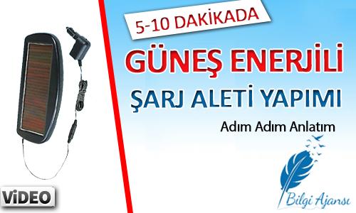 5-10 dk'da Güneş Enerjili Şarj Aleti Yapın