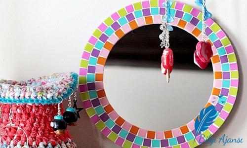 Mozaik Dekorasyon Cam Ayna Susleme Yapilisi Resimli Anlatim Nasil